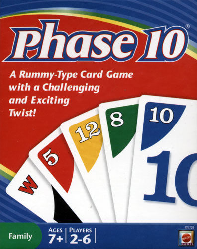 Sample Phase 10 Score Sheet Template. Card Games: Commercial Games