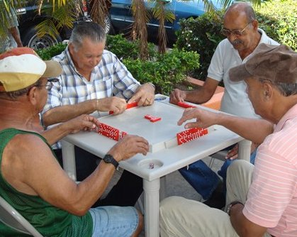 Domino table in Juana Diaz town square
