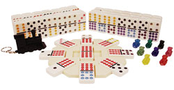 Double twelve dominoes Mexican Train set